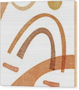 Terracotta Art Print 8 - Terracotta Abstract - Modern, Minimal, Contemporary Print - Abstract Shapes Wood Print