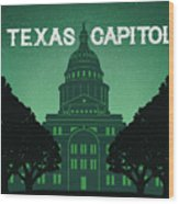 Texas Capitol Wood Print