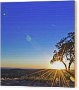 Texas Hill Country At Sunset Wood Print