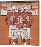 Texas Jamaal Charles, Justin Blalock, And Kasey Studdard Sports Illustrated Cover Wood Print
