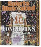 Texas Qb Vince Young, 2006 Rose Bowl Sports Illustrated Cover Wood Print