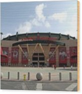 Texas Rangers V Los Angeles Angles Of Wood Print