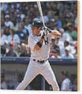 Texas Rangers V New York Yankees Wood Print