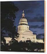 Texas State Capital Dawn Panorama Wood Print