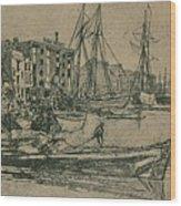 Thames Warehouses, 1859, 1904 Wood Print