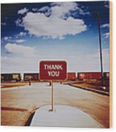 Thank You Sign Wood Print