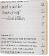 Thankful 63 7 Wood Print