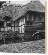 Thatched Watermill 2 Wood Print