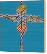 The Abstract Cross Wood Print