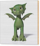 The Adorable Dragon  Wood Print