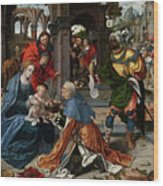 The Adoration Of The Magi With Donor  Wood Print