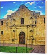 The Alamo Mission Wood Print