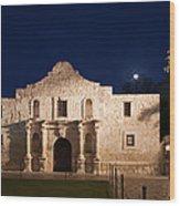 The Alamo, San Antonio Texas With Full Wood Print