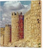 The Ancient City Of, Avila, Spain - Medieval City Walls Wood Print
