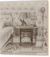 The Antique Sewing Machine Wood Print