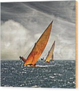 The Art Of Swahili Dhow Racing Wood Print