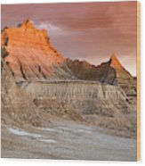 The Badlands With Another Sunrise Wood Print