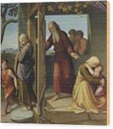 The Banishment Of Hagar  By Johann Friedrich Overbeck Wood Print