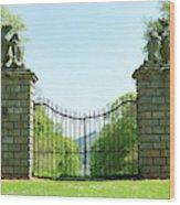 The Bear Gates At Traquair Wood Print