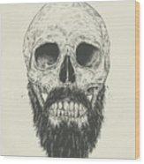 The Beard Is Not Dead Wood Print