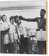 The Beatles And Muhammad Ali In 1964 Wood Print