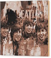 The Beatles Art  Wood Print