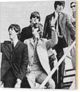 The Beatles, L. To R. Paul Mccartney Wood Print