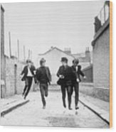 The Beatles Running In A Hard Days Night Wood Print