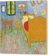 The Bedroom At Arles - Digital Remastered Edition Wood Print