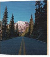 The Best Roads Lead To Rainier Wood Print