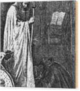 The Bishop And The Knight, 1862. Artist Wood Print