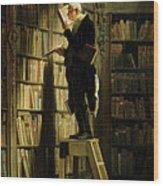 The Bookworm Wood Print