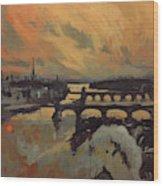 The Bridges Of Maastricht Wood Print