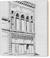 The Capital Transfer And Sands Brothers Building Helena Montana Wood Print