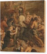 The Carrying Of The Cross, 1634 - 1637 Wood Print