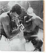 The Cassius Clay Vs Sonny Liston World Wood Print