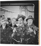 The Cast Of I Love Lucy Wood Print