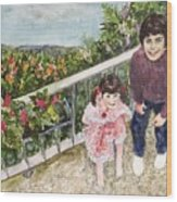 The Childrens Garden Wood Print