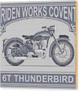 The Classic Thunderbird Motorcycle Wood Print
