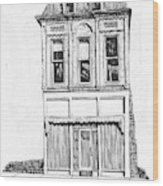 The Colwell Building Helena Montana Wood Print