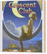 The Crescent Club, Siesta Key Wood Print