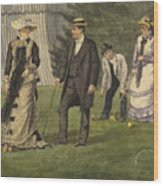 The Croquet Game Wood Print