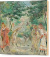 The Croquet Party Girls In The Garden Wood Print