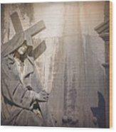 The Crosses We Bear Prazeres Historic Cemetery Lisbon Portugal Wood Print