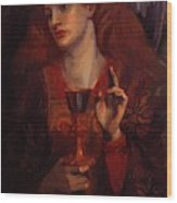 The Damsel Of The Sanct Grail Wood Print
