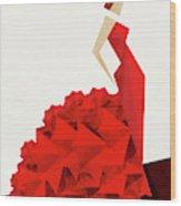 The Dancer Flamenco Wood Print