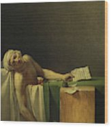 The Death Of Marat, 1793 Wood Print
