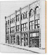 The Denver Block Helena Montana Wood Print