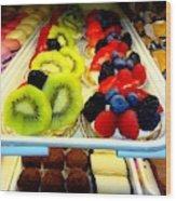 The Dessert Trays Wood Print