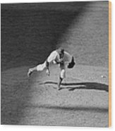 The Dodgers Hal Gregg, In Action In The Wood Print